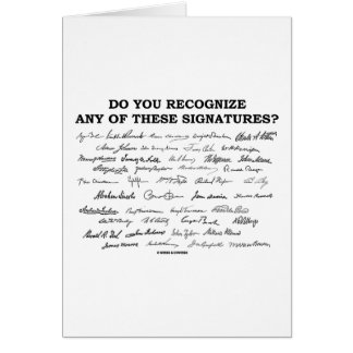Do You Recognize Any Of These Signatures? Greeting Cards