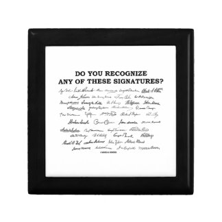 Do You Recognize Any Of These Signatures? Gift Box
