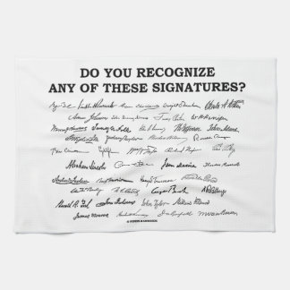 Do You Recognize Any Of These Signatures? Kitchen Towels