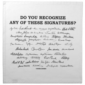 Do You Recognize Any Of These Signatures? Napkin
