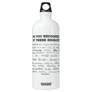 Do You Recognize Any Of These Signatures? Water Bottle