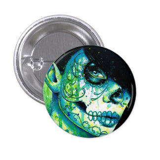 Do You Remember? Sugar Skull Girl Buttons