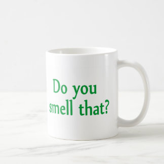 Do You Smell That Classic White Coffee Mug