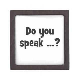 Do you speak ...? Basic black Jewelry Box