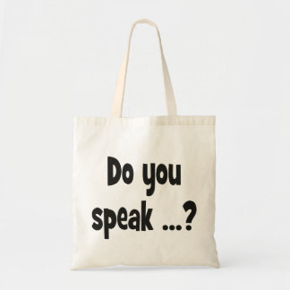 Do you speak ...? Basic black Tote Bag