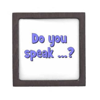 Do you speak ...? Basic blue Gift Box
