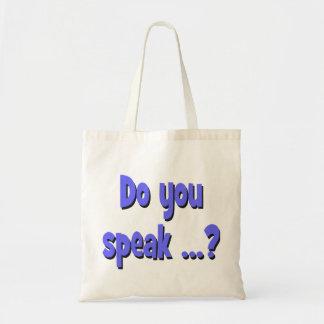 Do you speak ...? Basic blue Tote Bag
