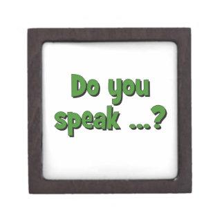 Do you speak ...? Basic green Jewelry Box