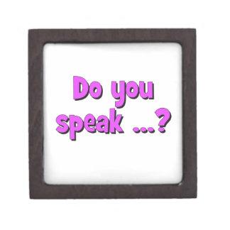 Do you speak ...? Basic purple Gift Box