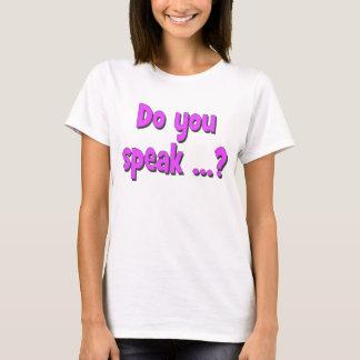 Do you speak ...? Basic purple T-Shirt