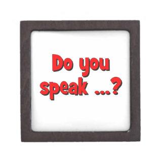 Do you speak ...? Basic red Gift Box