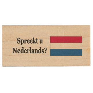 Do you speak Dutch? in Dutch. bf Wood USB 2.0 Flash Drive