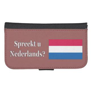 Do you speak Dutch? in Dutch. wf Phone Wallet Case