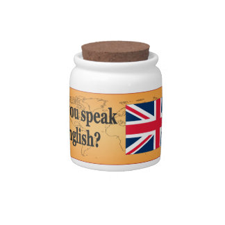 Do you speak English? in English. Flag bf Candy Dish