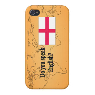 """""""Do you speak English?"""" in English. Flag bf iPhone 4 Covers"""