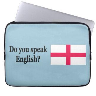 Do you speak English? in English.Flag bf Laptop Sleeve