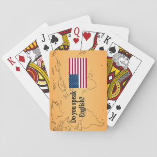 Do you speak English? in English. Flag bf Playing Cards