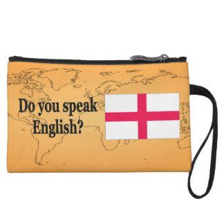"""""""Do you speak English?"""" in English. Flag bf Wristlet Wallet"""