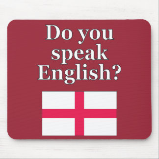 """""""Do you speak English?"""" in English. Flag Mouse Pad"""