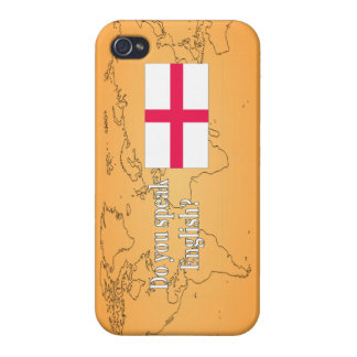 """""""Do you speak English?"""" in English. Flag wf iPhone 4 Cover"""