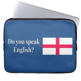 """Do you speak English?"" in English. Flag wf Laptop Sleeve"