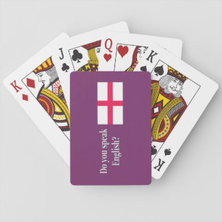 """""""Do you speak English?"""" in English. Flag wf Playing Cards"""