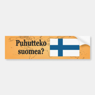 Do you speak Finnish? in Finnish. Flag bf Bumper Sticker