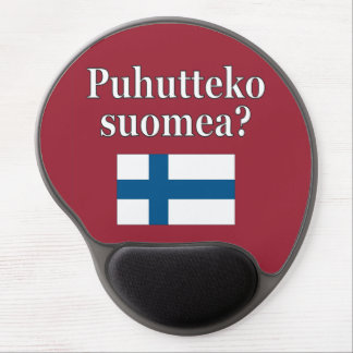 Do you speak Finnish? in Finnish. Flag Gel Mouse Pad