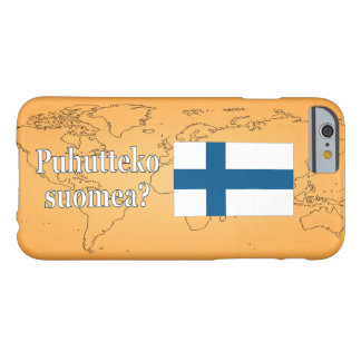 Do you speak Finnish? in Finnish. Flag wf Barely There iPhone 6 Case