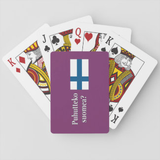 Do you speak Finnish? in Finnish. Flag wf Playing Cards