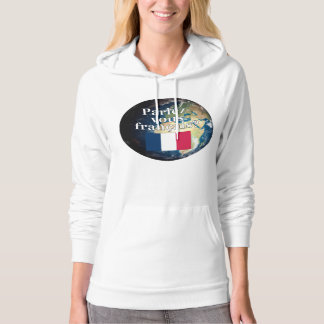 Do you speak French? in French. Flag & Earth Pullover