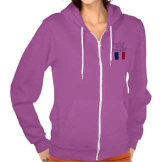 Do you speak French? in French. Flag Hoody