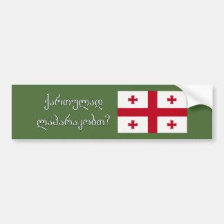 Do you speak Georgian? in Georgian. Flag wf Bumper Sticker