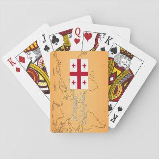 Do you speak Georgian? in Georgian. Flag wf Playing Cards