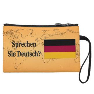 Do you speak German? in German. Flag bf Wristlet Clutches