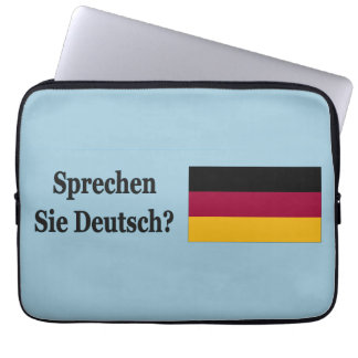 Do you speak German? in German. Flag bf Laptop Sleeve