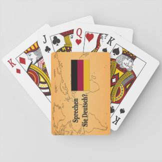 Do you speak German? in German. Flag bf Playing Cards