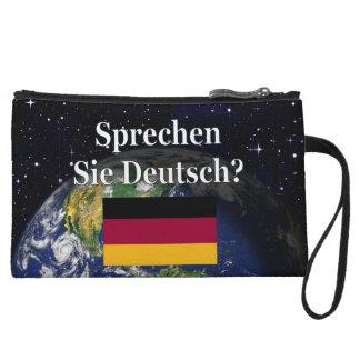 Do you speak German? in German. Flag & Earth Wristlets
