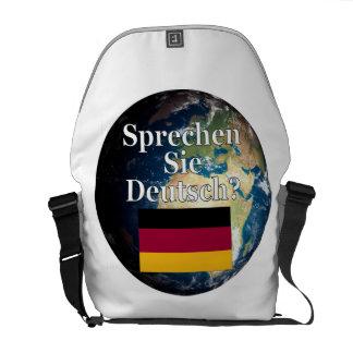 Do you speak German? in German. Flag & Earth Courier Bag