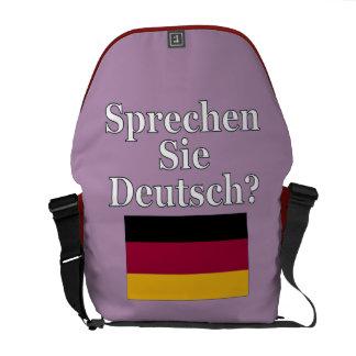 Do you speak German? in German. Flag Messenger Bag