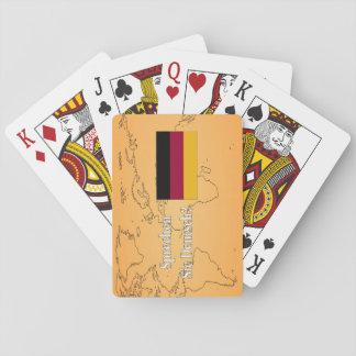 Do you speak German? in German. Flag wf Poker Cards