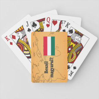 Do you speak Hungarian? in Hungarian. Flag bf Playing Cards