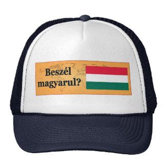 Do you speak Hungarian? in Hungarian. Flag bf Trucker Hat