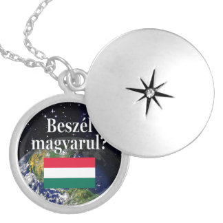 Do you speak Hungarian? in Hungarian. Flag & Earth Locket Necklace