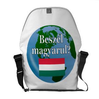 Do you speak Hungarian? in Hungarian. Flag & globe Messenger Bag