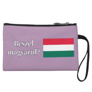 Do you speak Hungarian? in Hungarian. Flag wf Wristlet Purse
