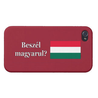 Do you speak Hungarian? in Hungarian. Flag wf iPhone 4/4S Cases