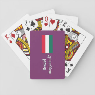 Do you speak Hungarian? in Hungarian. Flag wf Playing Cards