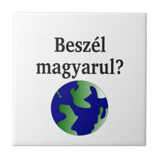 Do you speak Hungarian? in Hungarian. With globe Tile