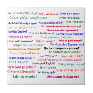 Do you speak ...? in many languages ceramic tile